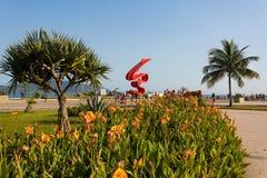 Пляж Сантоса, Бразилия Стоковые Изображения