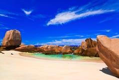 пляж Сейшельские островы тропические Стоковое Изображение RF