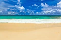 пляж Сейшельские островы тропические Стоковая Фотография RF