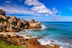 пляж Сейшельские островы тропические Стоковое фото RF