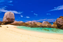 пляж Сейшельские островы тропические Стоковые Изображения RF