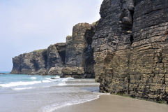 Пляж соборов (Испания) стоковая фотография