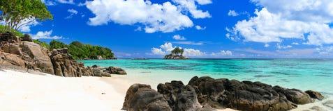 пляж совершенные Сейшельские островы Стоковые Фотографии RF