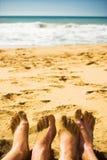 пляж совместно Стоковые Фотографии RF