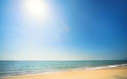 пляж солнечный Стоковое Изображение