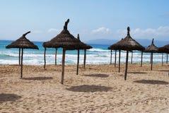 пляж солнечный Стоковое Изображение RF