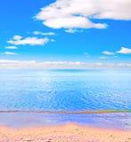 пляж солнечный Стоковые Фотографии RF