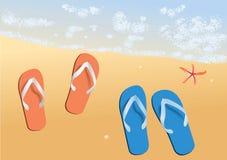 пляж солнечный Стоковая Фотография RF
