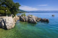 пляж среднеземноморской Стоковые Изображения RF