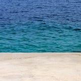 пляж среднеземноморской Стоковые Изображения