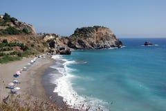 пляж среднеземноморской Стоковое Фото