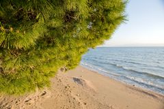 пляж среднеземноморской Стоковые Фото