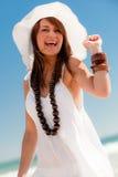 пляж счастливый Стоковые Фотографии RF