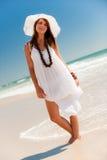 пляж счастливый Стоковые Изображения RF