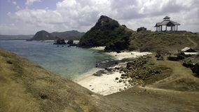 Пляж с белым песком в Бали Индонезии Стоковая Фотография RF