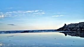 Пляж Тунис Сахель mahdia monastir Sousse стоковое изображение