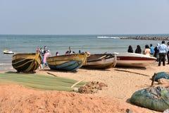 Пляж туристов в Индии стоковые фото