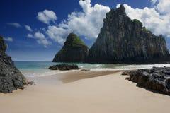 пляж уединился Стоковые Фото