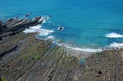 пляж утесистый Стоковые Изображения RF