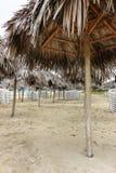 Пляж утра пустой, Куба, Варадеро Стоковое Изображение RF