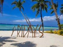 Пляж Филиппин Boracay Стоковые Изображения