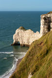 пляж Франция Нормандия утесистая Стоковое фото RF