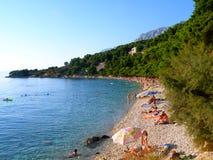 пляж Хорватия Стоковое Изображение