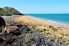 Пляж чернокожих в Mackay, Австралии Стоковые Фото