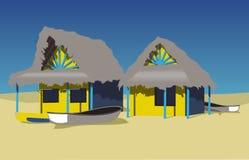 пляж экзотический бесплатная иллюстрация
