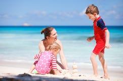 пляж ягнится каникула мати Стоковое фото RF