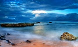 пляж 01 anyer стоковое изображение