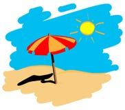 пляж Иллюстрация штока
