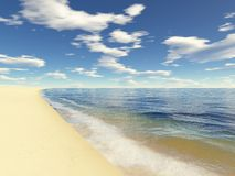 пляж 2 бесконечный Стоковое фото RF