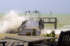 пляж 2 бурный стоковое изображение rf
