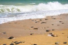 пляж 2 золотистый Стоковые Фото