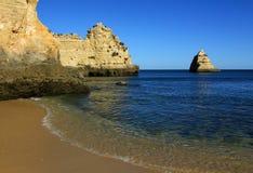 пляж 6 algarve Стоковое Фото