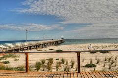 пляж adelaide стоковые фотографии rf