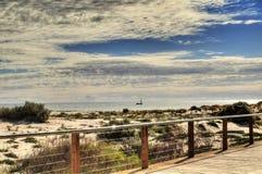 пляж adelaide стоковое изображение rf