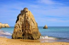 пляж algarve Стоковое фото RF
