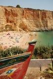 пляж algarve Стоковая Фотография