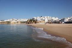 пляж algarve albufeira Стоковое Изображение RF