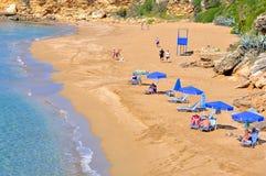 Пляж Ammes, остров Kefalonia, Ionian острова, Греция Стоковые Изображения