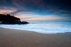 пляж anglet стоковое фото