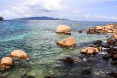 Пляж Anse Мари Луиза острова Сейшельских островов Praslin стоковая фотография