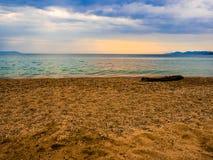 Пляж Asprovalta стоковые фотографии rf