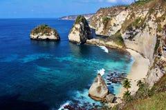 Пляж Atuh Стоковое Изображение