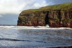 пляж ballybunion бушует зима Стоковые Изображения RF