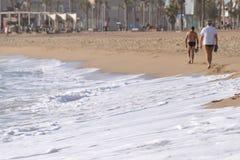 пляж barceloneta Стоковые Изображения RF