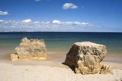 Пляж Batata, Алгарве, Португалия Стоковые Изображения RF