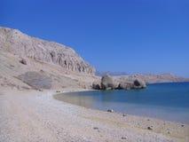 Пляж Beritnica в острове Pag, Далмации, регионе в Хорватии, Европе стоковое изображение